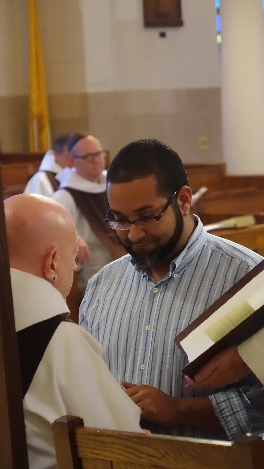 Postulant Angel Roque is admitted