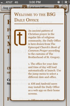 The Daily Office App
