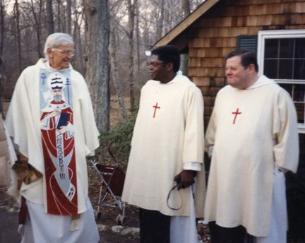 Bishop Paul Moore visits the Brothers